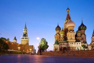 Red Square in Moscow at Sunset